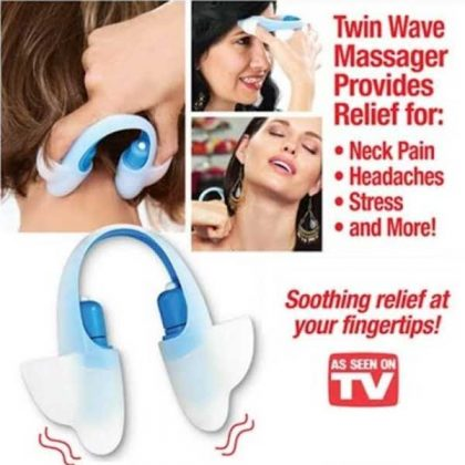 Vibrating Head Twin Wave Pinch Massager For Stress Relief 3
