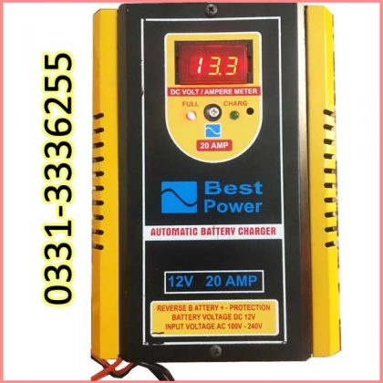 Full Automatic Battery Charger Microprocessor Technology 12 V 20 Amp