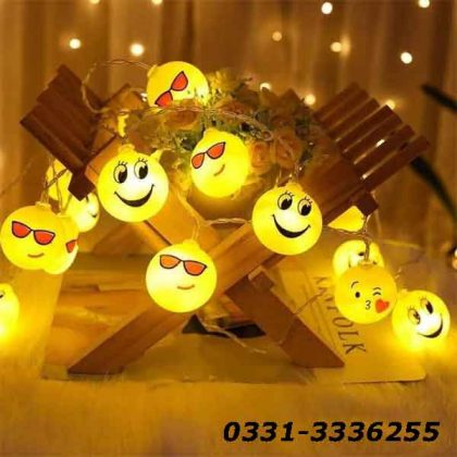 Emoji LED String Light   20 LED Emoji   3 Metter Length 1