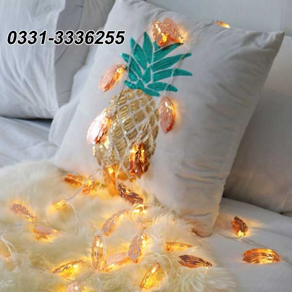 Golden Leaves Fairy Lights   20 Leafs   3 Meter Length 1