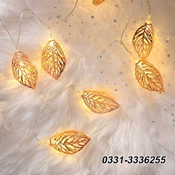 Golden Leaves Fairy Lights   20 Leafs   3 Meter Length 2