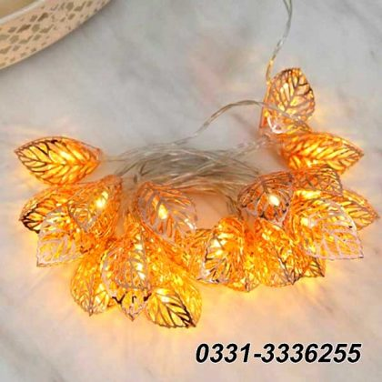 Golden Leaves Fairy Lights   20 Leafs   3 Meter Length
