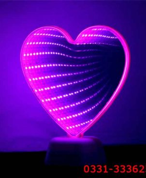 Heart Shape 3D LED Infinity Mirror Tunnel Lamp 1
