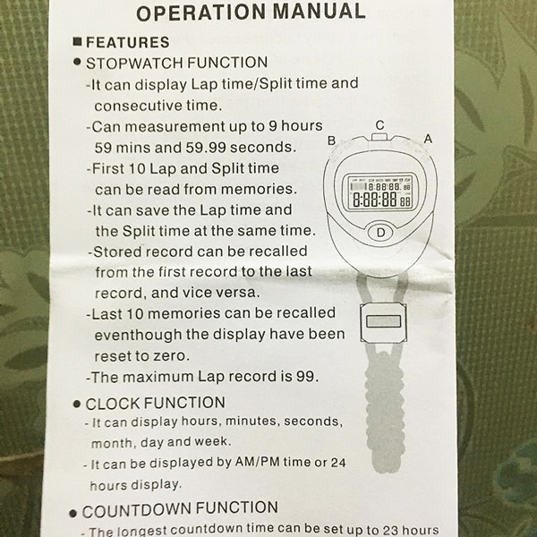 Multifunctions Electronic Countdown Timer Stopwatch 5