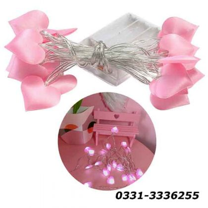 Pink Hearts Fairy Light   20 Hearts In String   3 Meters Length 3