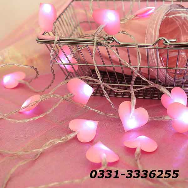 Pink Hearts Fairy Light   20 Hearts In String   3 Meters Length